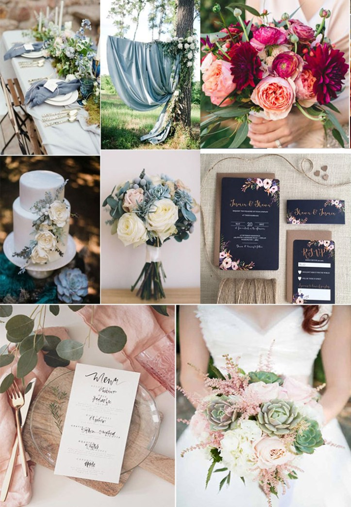 Wedding trends 2018: accent colors