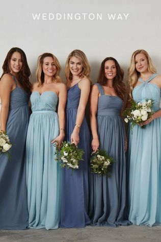 We Think You Might Love These Beautiful Mismatched Blue Bridesmaid Looks and 14 other Fabulous Wedding Ideas for your 2018 Wedding Celebration ..... @Sheer Ever After wedding blog. SheerEverAfter.wordpress.com