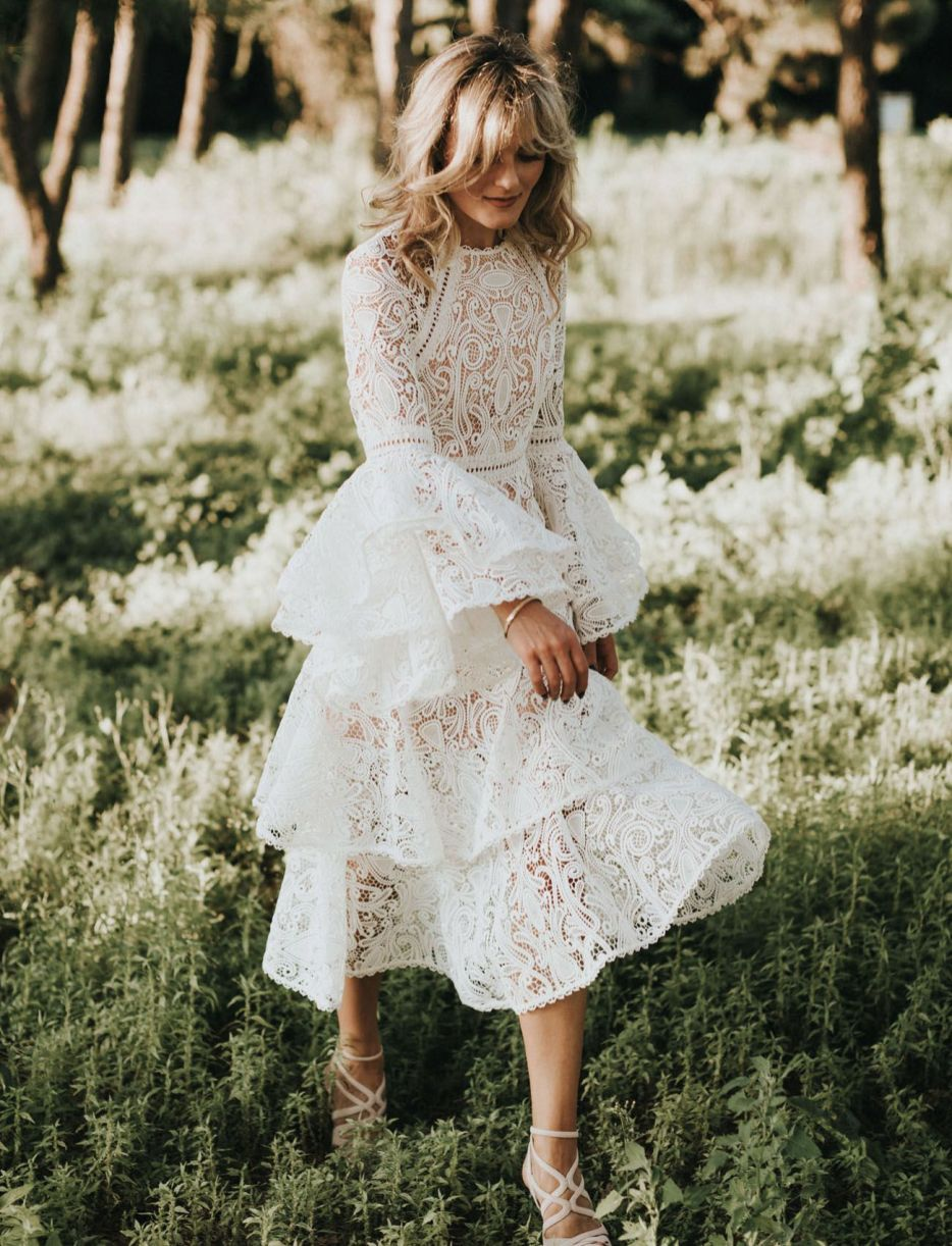 We Think You Might Adore These Gorgeous Bell sleeve wedding dress - 15 Fabulous Wedding Ideas for your 2018 Wedding Celebration ..... @Sheer Ever After wedding blog. SheerEverAfter.wordpress.com