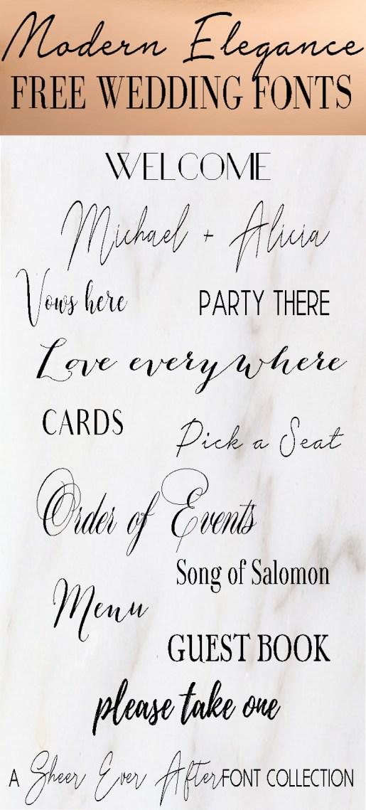 FREE FONTS: Modern Elegance Font collection // SHEER EVER AFTER WEDDINGS
