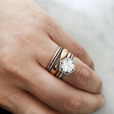 We Think You Might Adore These Gorgeous Unique Stackable Wedding Rings and 14 other Fabulous Wedding Ideas for your 2018 Wedding Celebration ..... @Sheer Ever After wedding blog. SheerEverAfter.wordpress.com