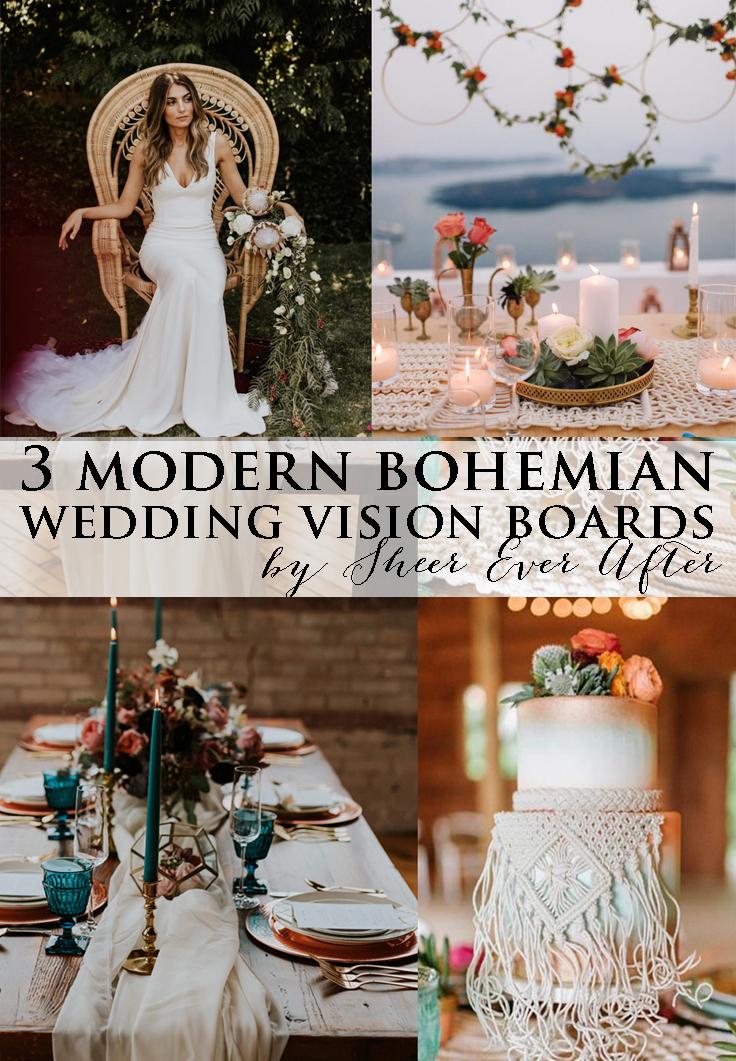 modern bohemian vision boards