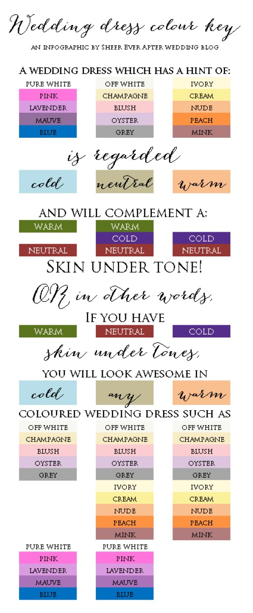 Wedding dress color vs skin undertone key