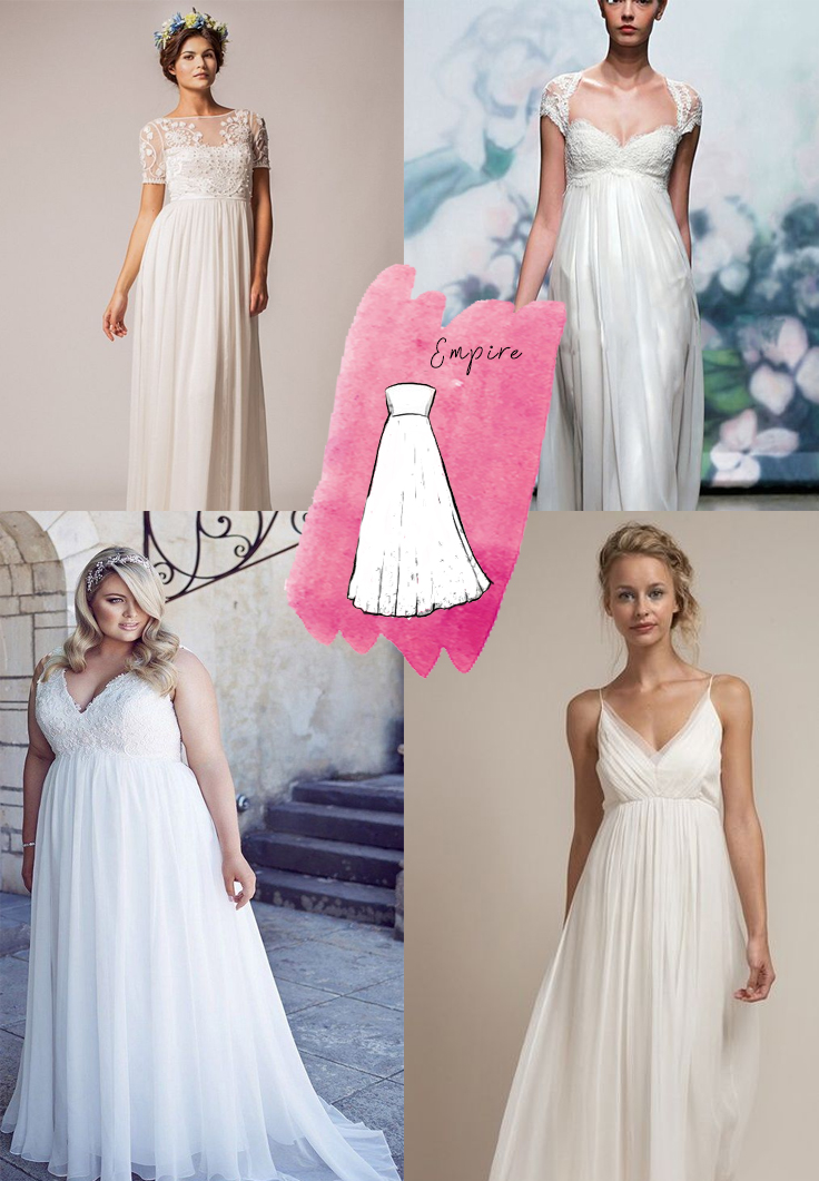 Wedding Dress silhouettes explained   Sheer Ever After Wedding Dress Inspiration   Follow Us at #sheereverafter_weddings sheereverafter.com
