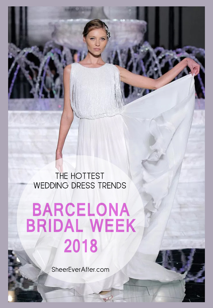 See the latest trends from this year's Bridal Week in Barcelona
