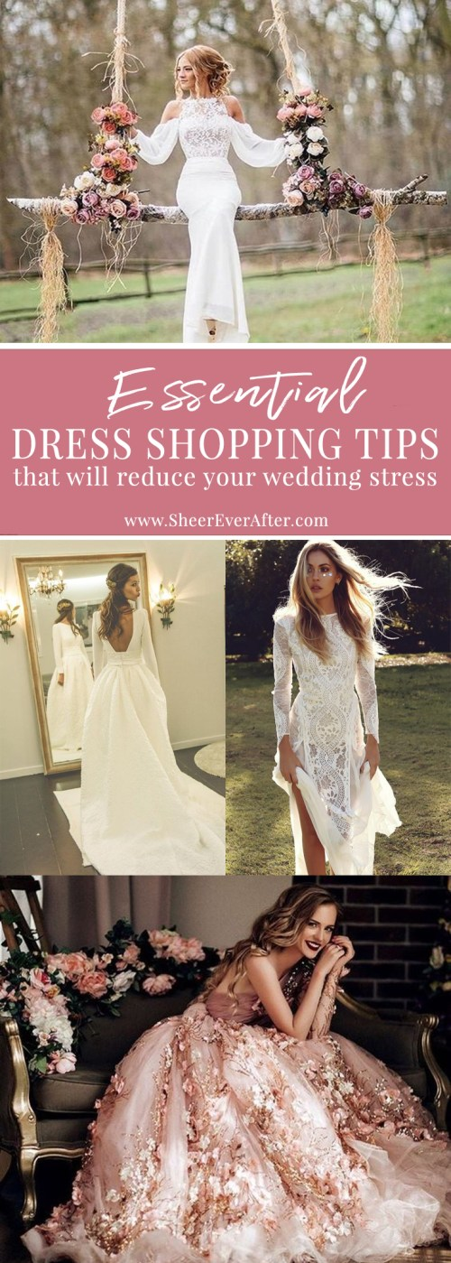 Don't go wedding dress shopping without reading these ESSENTIAL tips | www.SheerEverAfter.com