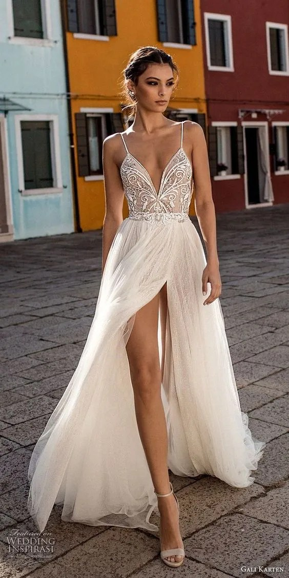 Sheer and 'naked' wedding dress inspiration  SheerEverAfter.com