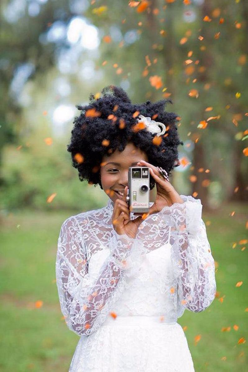 You'll adore these gorgeous natural hair styles for your wedding day | This and more at www.SheerEverAfter.com