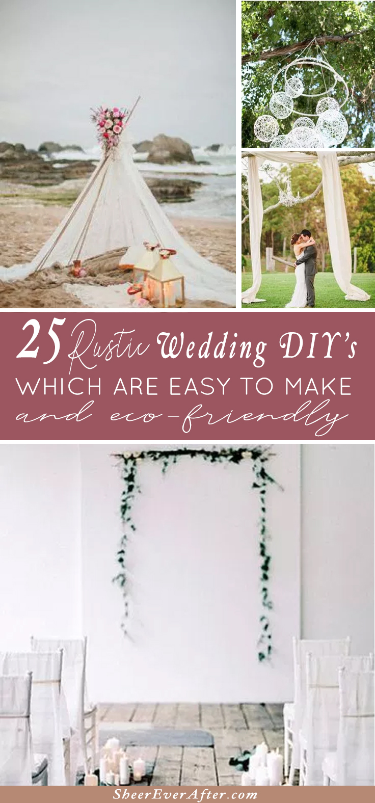 Spend more time relaxing during your engagement by choosing these EASY & GORGEOUS wedding DIY's | This and more at www.SheerEverAfter.com