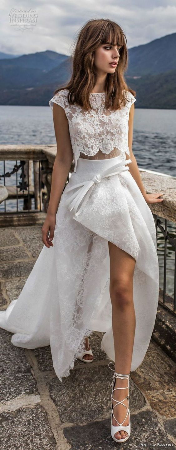 These bridal crop tops are sure to turn heads | SheerEverAfter.com | Your Online Maid of Honor