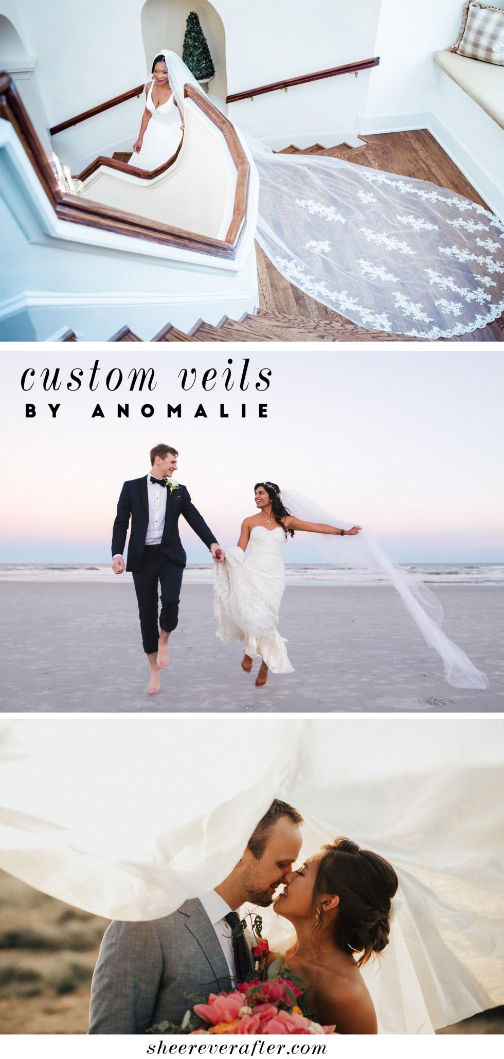 Custom veils by Anomalie | SheerEverAfter.com