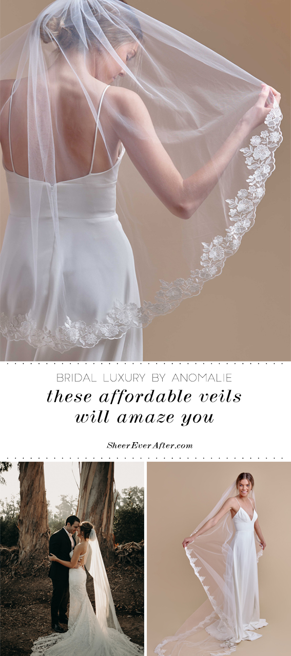 The latest veil collection by Anomalie | Sheer Ever After | Your online maid of honor