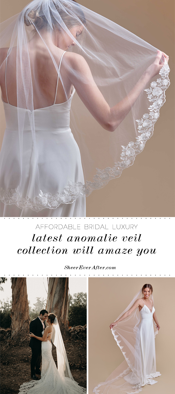 Anomalie latest veil collection   Sheer Ever After   Your online maid of honor