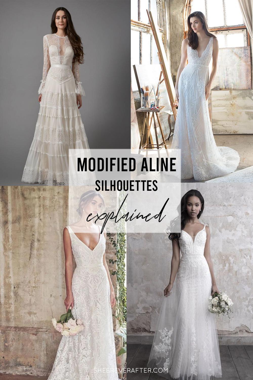 #weddingdress #weddingdresssilhouettes #bridalgown #bridal #weddingday #weddingideas #beautifuldress #aline #modifiedaline