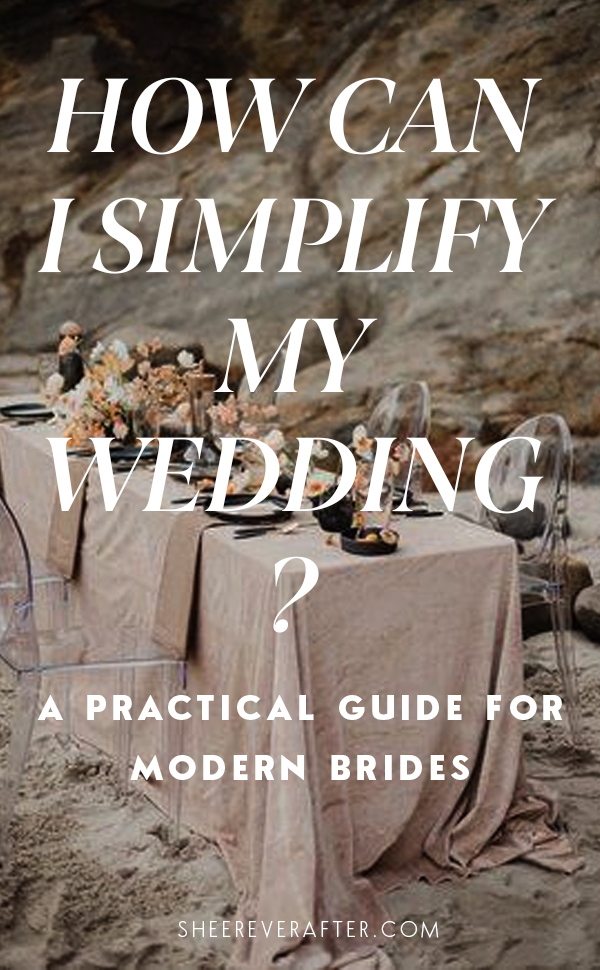If you are not keen on unnecessary stress, or don't want to spend money on things that don't actually matter, we have listed the areas you can re-think and still have a beautiful and modern wedding