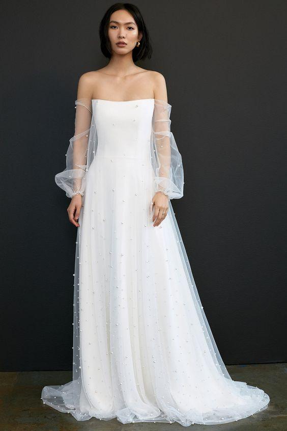 wedding dresses,  covid-wedding, micro wedding, elopement, bridal gown