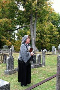 Diane Doring portraying Jessie Fremont Traver Moore as part of Amazing Graves, 30 Oct. 2016 in Sand Lake, New York.