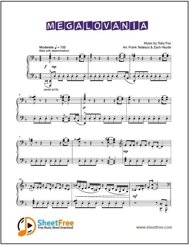 Megalovania Notes Piano : megalovania, notes, piano, Megalovania, Sheet, Music, Piano, Download, Sheetfree.com