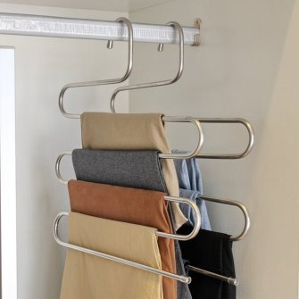 use closet space more efficiently with S-type hangers