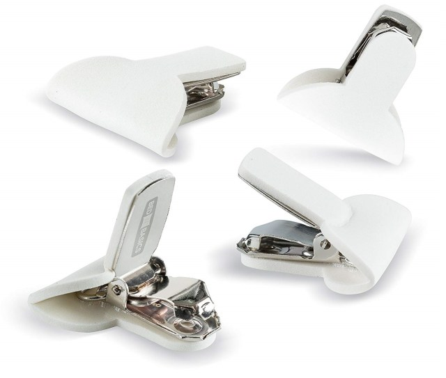 clips for keeping a comforter securely in place