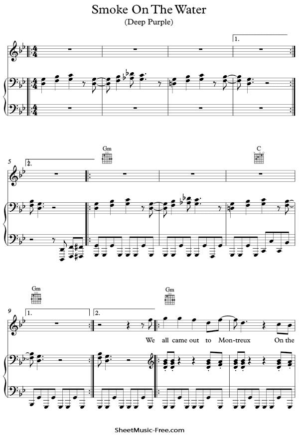 Download Smoke On The Water Sheet Music PDF Deep Purple