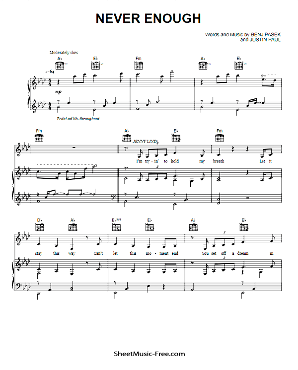 never enough partitura piano pdf gratis