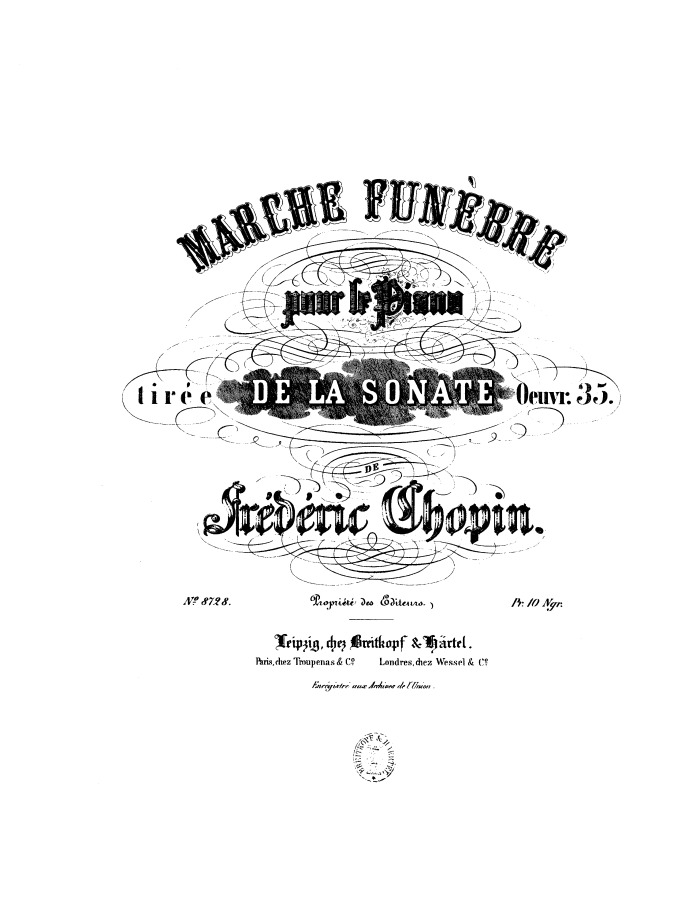 op.35 no.2 Funeral March free sheet music by Chopin