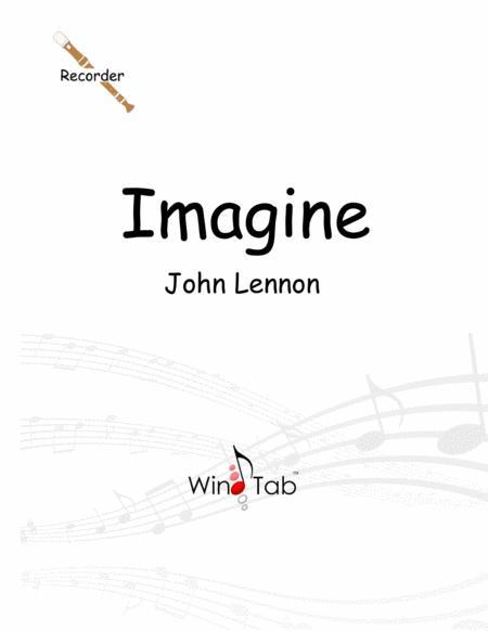 Imagine Recorder Tab Sheet Music PDF Download