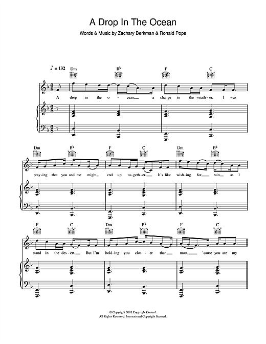 A Drop In The Ocean Piano Chords : ocean, piano, chords, Ocean
