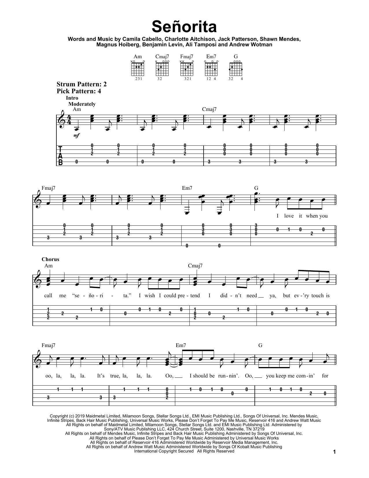 Kunci Gitar Senorita : kunci, gitar, senorita, Chord, Guitar, Senorita, Health, Tips,Music,Cars, Recipe