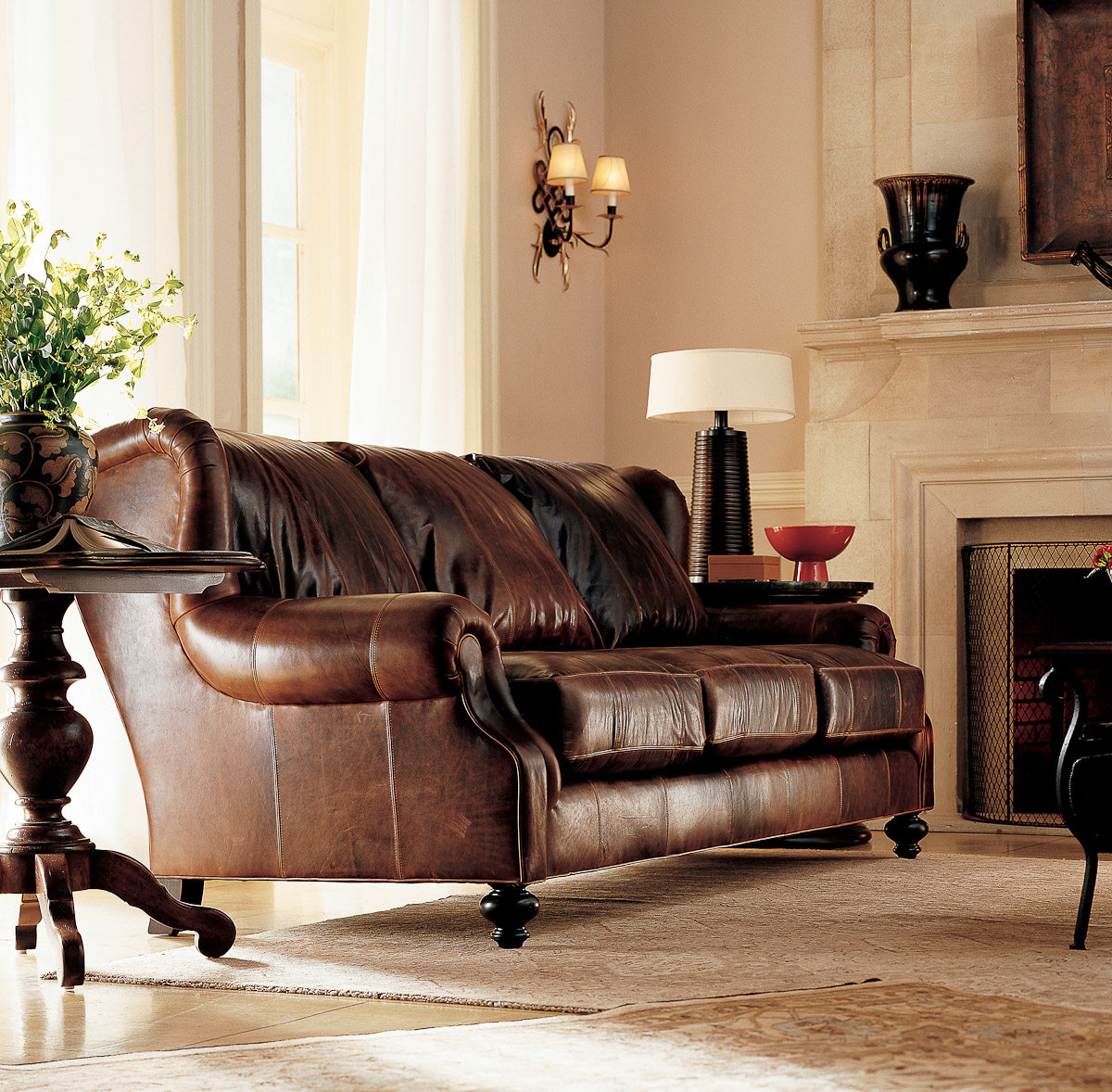 Leather Living Room Chair Living Room Leather Furniture