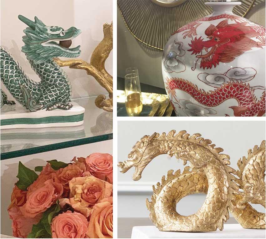 Design Trends Spring 2019 - Dragon Accents Were Plentiful.