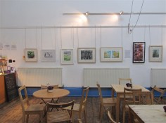 Prints from exhibition at The Blue Moon Cafe, Sheffield