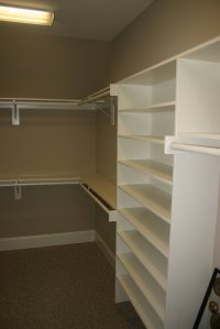 building wood shelves in a closet   Quick Woodworking Projects