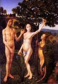 Temptation of Adam and Eve by Hugo van der Goes (1470)