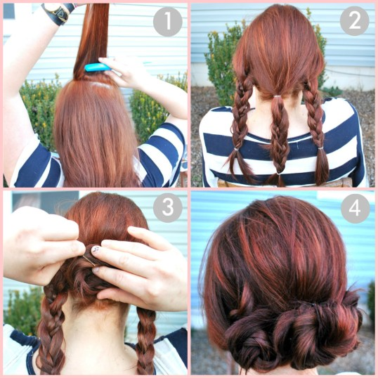 fun and easy hairstyle mini-buns