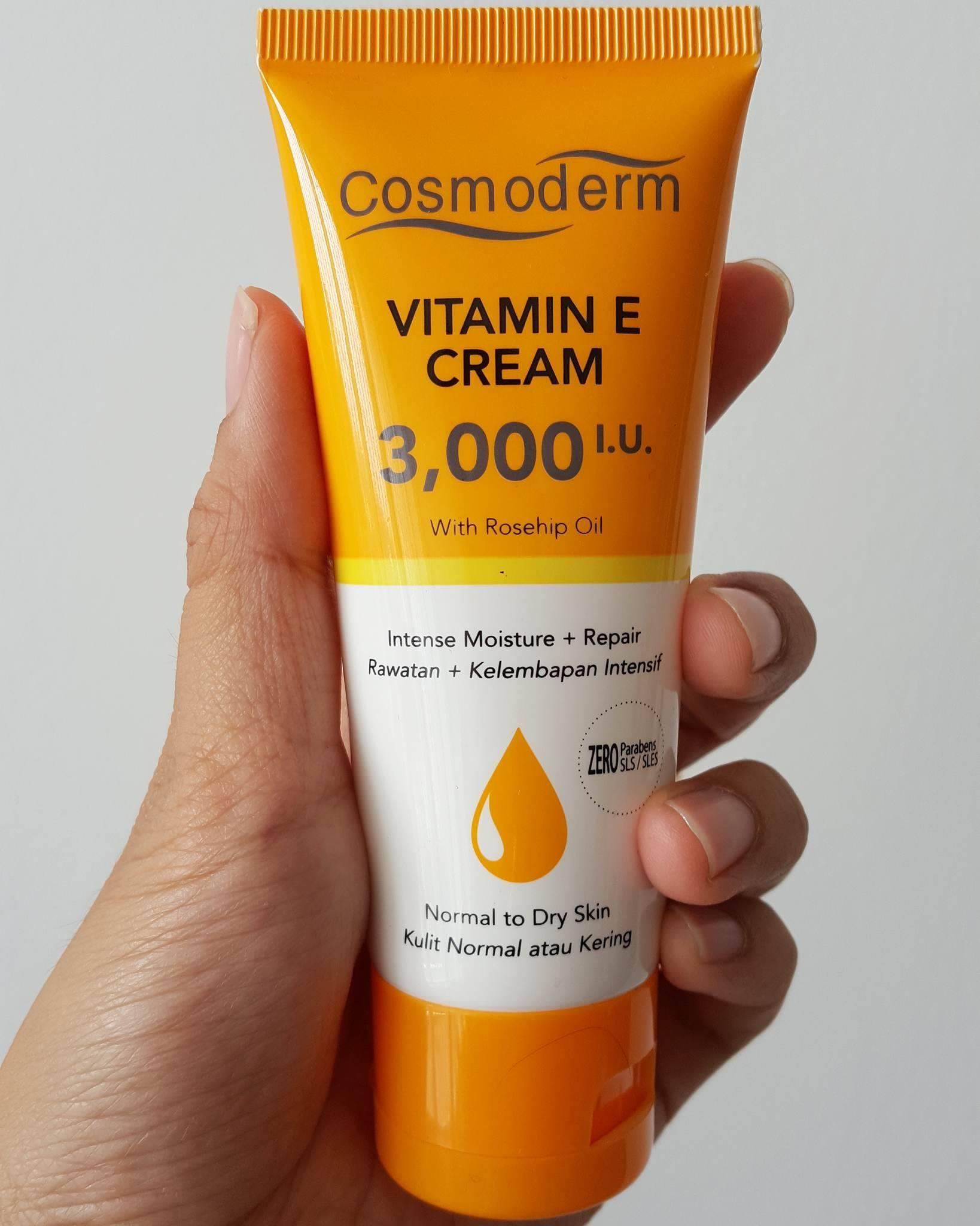 vitamin e CREAM cosmoderm untuk kulit kering