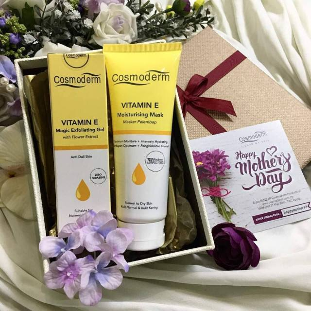 IDEA HADIAH HARI IBU COSMODERM GIFT SET FOR MOTHERS DAY - BEAUTIFUL SKIN FOR MOM SET