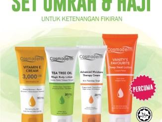 Cosmoderm Set Umrah & Haji (tanpa wangian / bebas haruman)