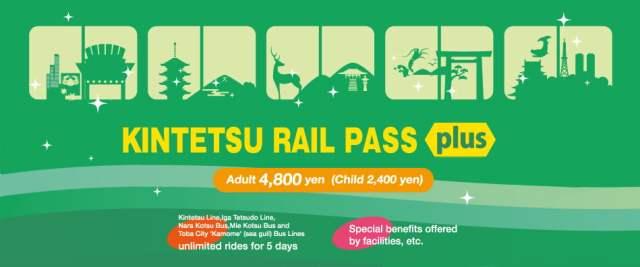 KINTETSU RAIL PASS plus di jepun