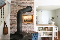 How to Install a Rustic Brick Accent Wall - She Holds Dearly