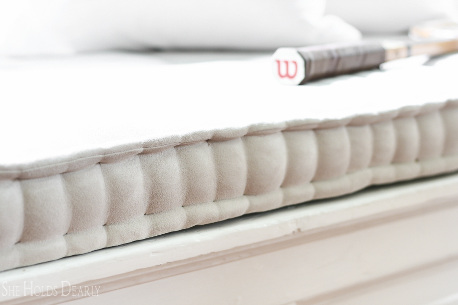Box Style Seat Cushions French Mattress Cushion Tutorial - She Holds Dearly