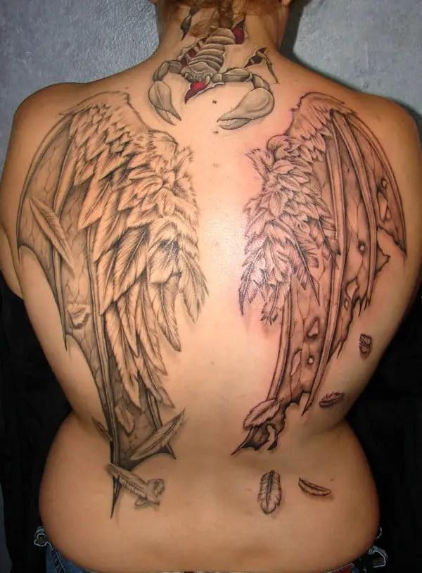 New Angel And Devil Wings Tattoo Designs 2016 Sheideas