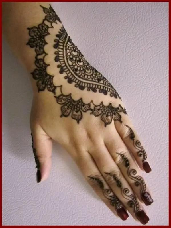 Henna Simple Full Hand Mehndi Design Novocom Top