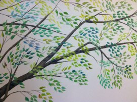 Tree mural for baby's room, Swampscott, MA.