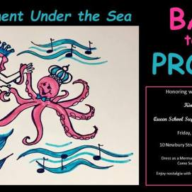 Postcard for Back to the Prom II, Boys' & Girls' Club fundraiser