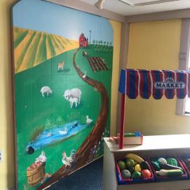 Farm Mural, Curious City Pop-Up Children's Museum, Peabody, MA