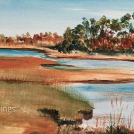 """Autumn Marsh, acrylic, 12"""" x 24"""""""