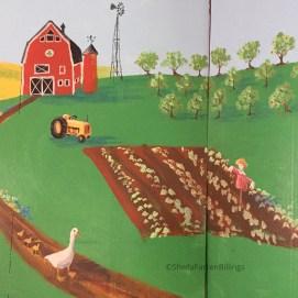 Farm Mural detail. Curious City Pop-Up Children's Museum, Peabody, MA