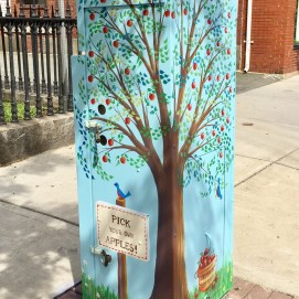 Outside the Box Project, outside Peabody Public Library, Main St., Peabody, MA